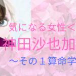 神田沙也加さん算命学